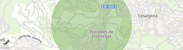 Mapa Torrelles de Llobregat