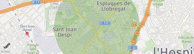 Mapa Cornellà de Llobregat