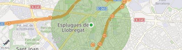 Mapa Esplugues de Llobregat