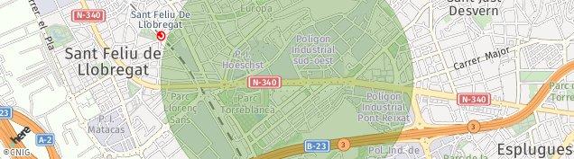 Mapa Sant Just Desvern