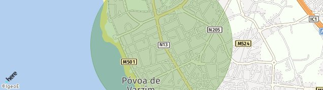 Map of Póvoa de Varzim