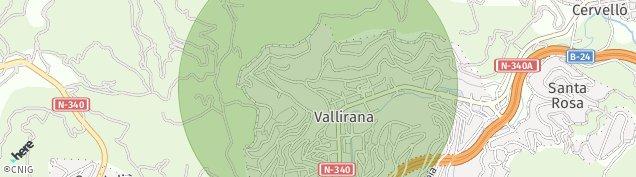 Mapa Vallirana