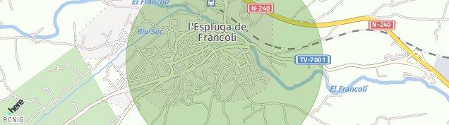 Mapa L'Espluga de Francolí