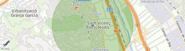 Mapa Sant Vicenç dels Horts