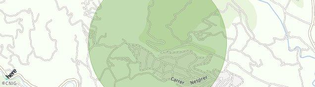 Mapa Torrelles de Foix