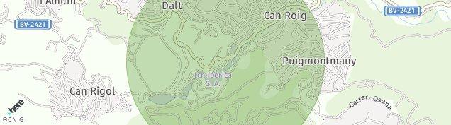 Mapa Corbera de Llobregat
