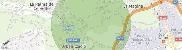Mapa La Palma de Cervelló