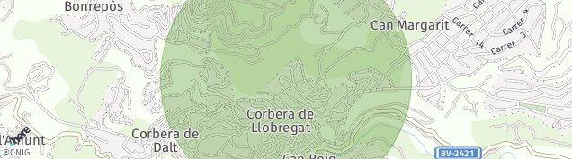 Mapa Corbera de Baix