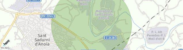 Mapa Sant Sadurní d'Anoia