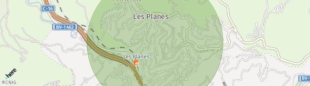 Mapa Les Planes