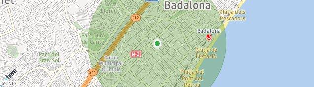 Mapa Badalona