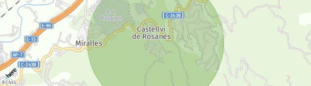 Mapa Castellví de Rosanes