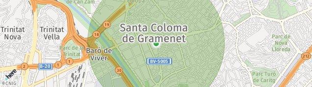 Mapa Santa Coloma de Gramenet
