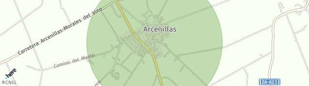 Mapa Arcenillas