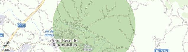 Mapa Sant Pere de Riudebitlles