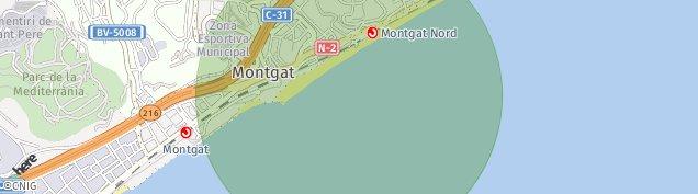 Mapa Montgat