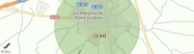 Mapa La Almunia de Doña Godina