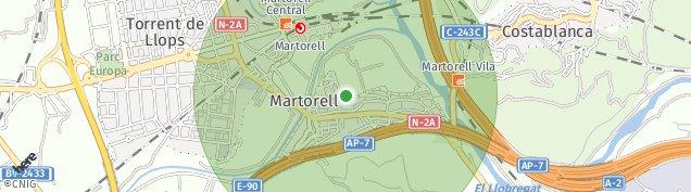 Mapa Martorell