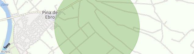 Mapa Pina de Ebro