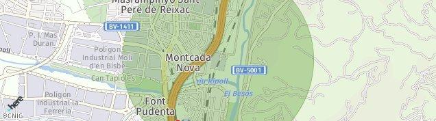 Mapa Montcada i Reixac