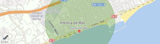 Mapa Premià de Mar