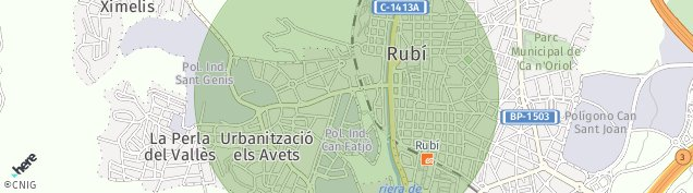Mapa Rubí
