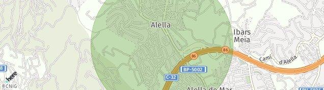 Mapa Alella