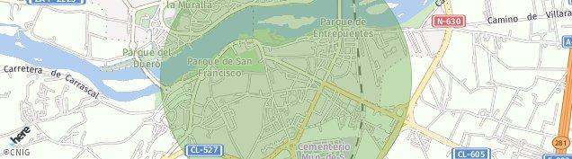 Mapa Zamora