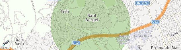 Mapa Teià
