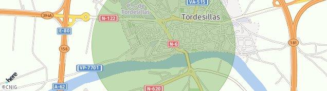 Mapa Tordesillas