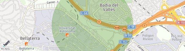 Mapa Badia del Vallès