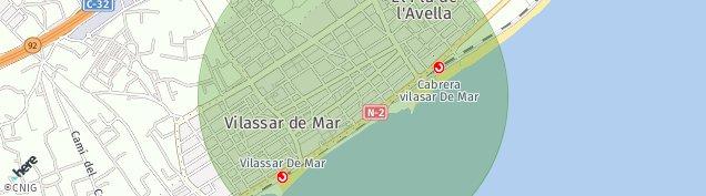 Mapa Vilassar de Mar