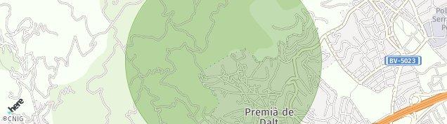 Mapa Premià de Dalt