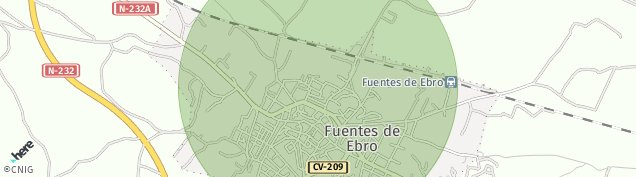 Mapa Fuentes de Ebro