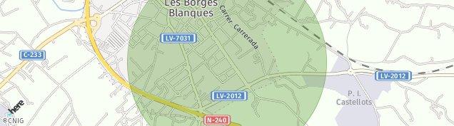 Mapa Les Borges Blanques