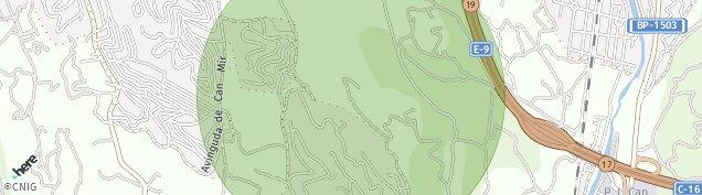 Mapa Les Fonts