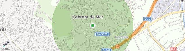 Mapa Cabrera de Mar