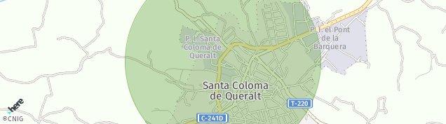 Mapa Santa Coloma de Queralt