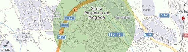 Mapa Santa Perpètua de Mogoda