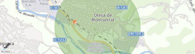 Mapa Olesa de Montserrat