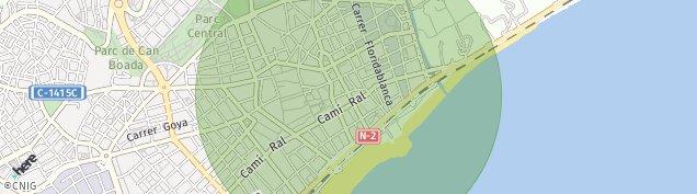 Mapa Mataró