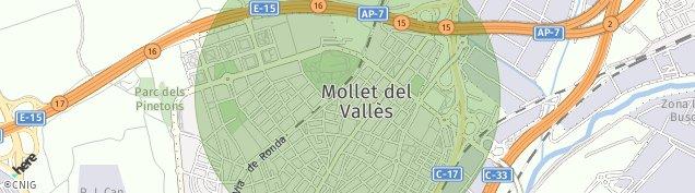 Mapa Mollet del Vallès
