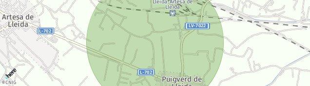 Mapa Puigverd de Lleida