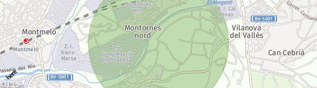 Mapa Montornès del Vallès