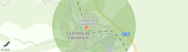 Mapa La Pobla de Claramunt
