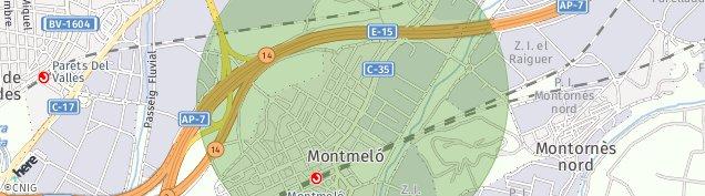 Mapa Montmeló