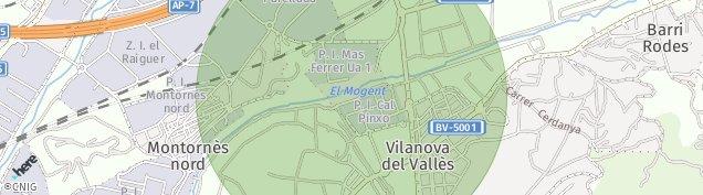 Mapa Vilanova del Vallès