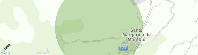 Mapa Santa Margarida de Montbui