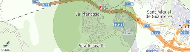 Mapa Viladecavalls