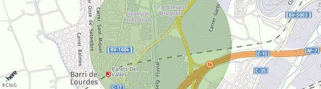 Mapa Parets del Vallès